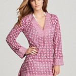 Tory Burch Biarritz Print V Neck Beach Cover Up Tunic Bloomingdales $245