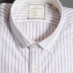 MONOGRAM OXFORD - WHITE BLUE RED Billy Reid $185