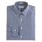 Thomas Mason® for J.Crew spread-collar shirt in vintage navy gingham was $135.00  now $99.99