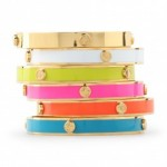 Signature Screw Stud Enamel Bangle C Wonder $38