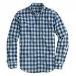 Lightweight shirt in aqua gingham J Crew $64.50