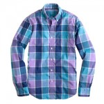 SLIM LIGHTWEIGHT SHIRT IN FADED VIOLET CHECK J. Crew $64.50