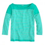 Engineered-stripe boatneck top was $45.00  now $34.50