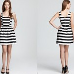 Aqua Stripe Dress - Full Skirt ORIG $88.00 SALE $61.60