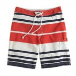 "9"" board shorts in bold stripe J Crew $69.50"