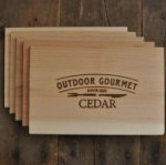 Cedar Grilling Planks: Set of 5, Father's Day Gift, Gift for him, BBQ, Grill, Cooking Planks,  Etsy Outdoor Gourmet $15.99