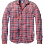 Flannel shirt with leather elbow patches Scotch and Soda