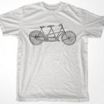 Retro 2 Seat Tandem Bike Men & Ladies T-shirt in sizes S, M, L, XL (T1108014) teesolo Etsy $14.95