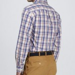 Peter Millar Cermic Plaid Peach-Washed Shirt, Eggplant Neiman Marcus $115