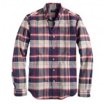 SLIM VINTAGE OXFORD SHIRT IN DUSTY BAMBOO PLAID J. Crew $75