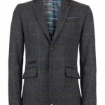 FLAVIUS - CHECKED WOOL BLAZER Ted Baker $575