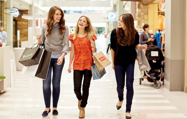 With pictures of teens shopping authoritative